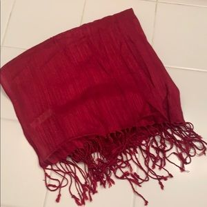 Red Scarf with Sheen